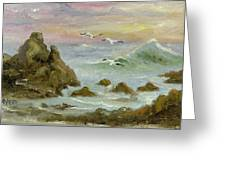Sea Coast Greeting Card