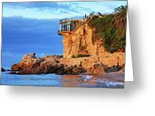 Sea Coast Sunrise At Balcon De Europa In Nerja Greeting Card