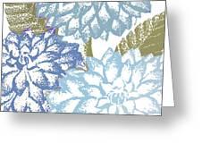 Sea Dahlias I Greeting Card