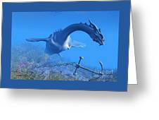 Sea Dragon And Anchor Greeting Card