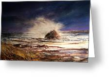 Sea Drama Greeting Card