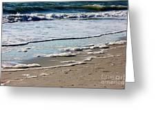 Sea Foam At The Shore Greeting Card