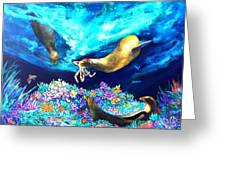 Sea Garden  Greeting Card by Dianne Roberson