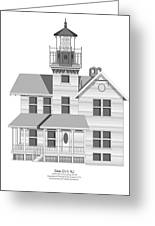 Sea Girt New Jersey Architectural Drawing Greeting Card