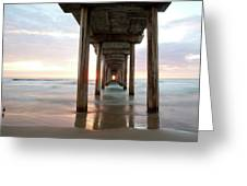 Sea Gull Watching At Scripps Pier Greeting Card