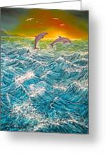 Sea In Action Greeting Card