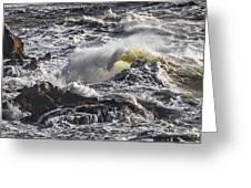 Sea In Turmoil Greeting Card
