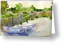 Sea Isle Rescue Boat Greeting Card