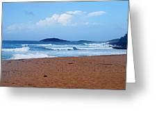 Sea Meets Beach Greeting Card
