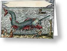 Sea Monster, 16th Century Greeting Card