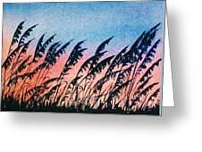 Sea Oats Silouette Greeting Card