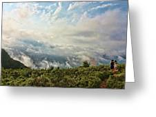 Sea Of Clouds Greeting Card by Manuel Benito