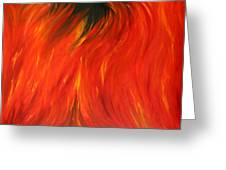 Sea Of Flames Greeting Card