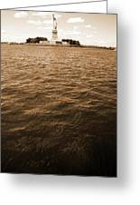 Sea Of Liberty Greeting Card