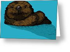 Sea Otter - Full Color Greeting Card