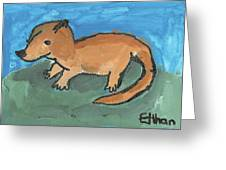 Sea Otter On Land Greeting Card