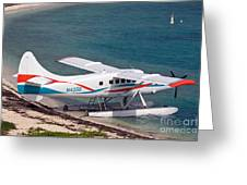 Sea Plane At Dry Tortugas National Park Greeting Card
