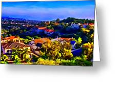 Sea Pointe Estates Greeting Card by Kathy Tarochione