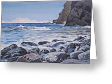 Sea Pounded Stones At Crackington Haven Greeting Card