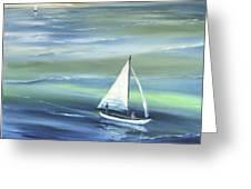 Sea Row Greeting Card