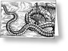Sea Serpent, 1555 Greeting Card