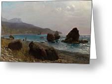 Sea Shore Crimea Greeting Card