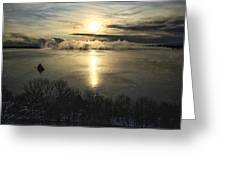 Sea Smoke At Sunrise Greeting Card