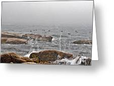 Sea Spray In Fog Greeting Card