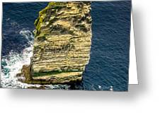 Sea Stack Cliffs Of Moher, Northern Ireland Greeting Card by Claudia Abbott