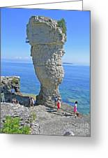 Sea Stack Perspective Greeting Card