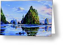 Sea Stack Serenity Greeting Card
