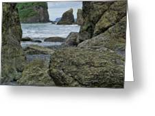 Sea Stacks And Boulders Washington State Greeting Card