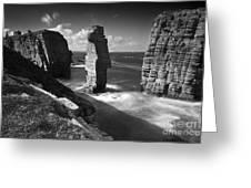Sea Stacks At Castle Sinclair Girnigoe Greeting Card