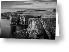 Sea Stacks, Yesnaby, Orkney, Scotland Greeting Card