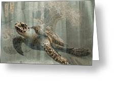 Sea Turtle Great Wave Greeting Card