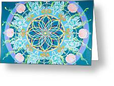 Sea Turtle Mandala  Greeting Card