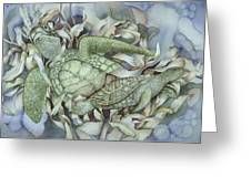 Sea Turtles Mum And Babe Greeting Card