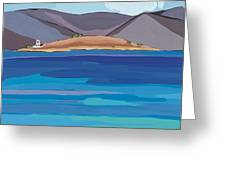 Sea View And Chapel Greeting Card