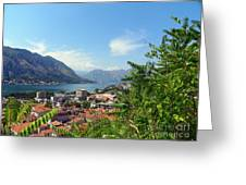 Sea View From Kotor Greeting Card