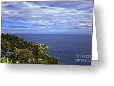 Sea View From Taormina Greeting Card
