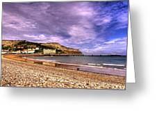 Sea View Town Greeting Card