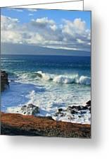 Sea Wave Surf Clouds Coast 46713 300x532 Greeting Card