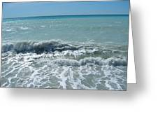 Sea Waves In Italy Greeting Card