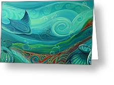Seabed By Reina Cottier Greeting Card