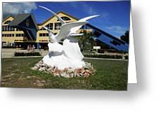 Seabird Statue Greeting Card