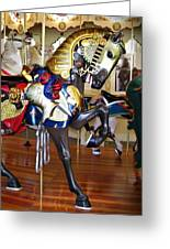 Seabreeze Carousel Armored Horse Greeting Card