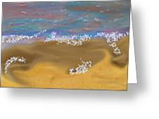 Sea.breeze.wet Sand. Greeting Card
