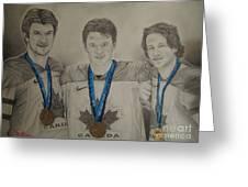 Seabrook Toews Keith Gold Medal Greeting Card