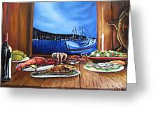Seafood Feast Greeting Card