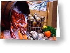 Seafood Fresh Greeting Card by Vance Fox